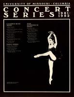 University of Missouri-Columbia Concert Series 1981-82