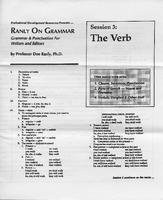 Ranly on grammar. Session 3: The verb