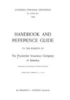 Handbook and reference guide to the exhibits of the Prudential Insurance Company of America.
