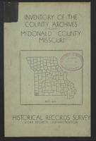 Inventory of the County Archives, McDonald County, Missouri