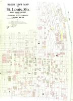 St. Louis, Missouri, 1903 April: Block line map