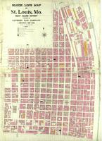 St. Louis, Missouri, 1907 July: Block line map