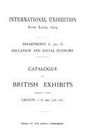 International Exhibition Saint Louis, 1904.
