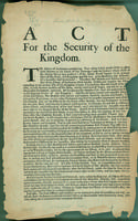 Act for the security of the kingdom
