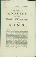Humble address of the House of Commons to the King