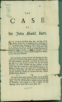 Case of Sir John Rudd, Bart