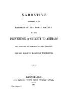 Narrative addressed to the members of the Royal Society for the Prevention of Cruelty to Animals
