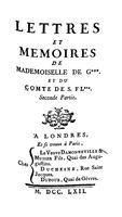 Lettres et mémoires de Mademoiselle de G***. et du comte de S. FL***, Part 2