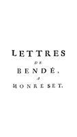 Lettres de Bendé, a Monreset