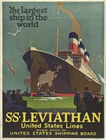 Largest ship in the world : S.S. Leviathan