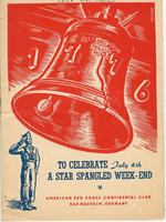 Cover page of the ARC (American Red Cross) Continental Club program booklet describing activities held at Bad Nauheim for the weekend of July 4, 1947: To Celebrate July 4th, A Star Spangled Week-End.