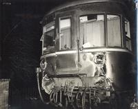 Photo of damaged train car
