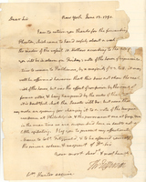 Thomas Jefferson Letter to Wm. Hunter