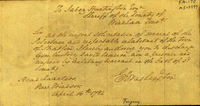 George Washington to Jabez Huntington. [Forgery]