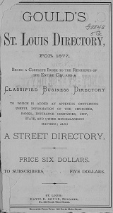 Gould's St. Louis Directory, for 1877