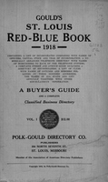 Gould's St. Louis Red-Blue Book for 1918