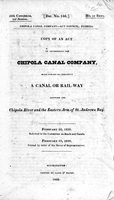 Chipola Canal Company--Act Council, Florida.