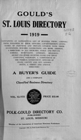 Gould's St. Louis Directory for 1919