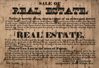 M-393: Sale of Real Estate Broadside and Manuscript