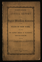 Forty-Sixth Annual Report of the Baptist Missionary Convention of the State of New York