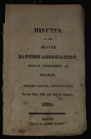 Minutes of the Beaver Baptist Association