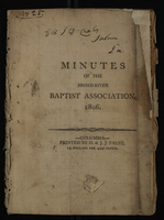 Minutes of the Broad River Baptist Association, 1806