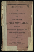 Minutes of the fifteenth Annual Meeting of the Columbus Baptist Association