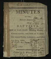 Minutes of the Holston Association of Baptists