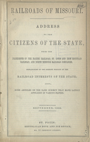Address to the Citizens of the State, from the Presidents of the Pacific Railroad