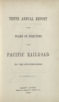 Tenth Annual Report of the Board of Directors of the Pacific Railroad