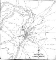 Railroad Map of St. Louis, MO and East St. Louis, IL