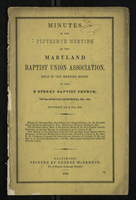 Minutes of the Fifteenth Meeting of the Maryland Baptist Union Association