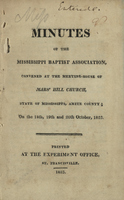 Minutes of the Mississippi Baptist Association