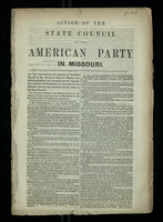 Action of State Council of the American Party in Missouri 1855