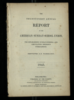 The Twenty-First Annual Report of the American Sunday-School Union