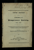 Fifth Report of the American Temperance Society May 1832