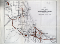 Map of Chicago District of Indiana Harbor Belt Railroad