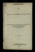 Remarks of the Hon. J. R. Barrett of St. Louis