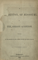Mr. Benton of Missouri on The Oregon Question