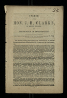 Speech of Hon. J. H. Clarke, of Rhode Island, on the Subject of Intervention