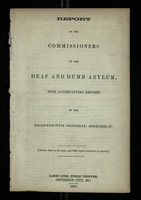 Report of the Commissioners of the Deaf and Dumb Asylum