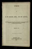 Speech of G. W. Goode, Esq., of St. Louis