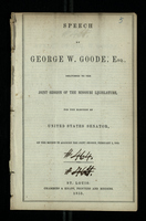 Speech of George W. Goode, Esq.