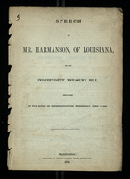 Speech of Mr . Harmanson, of Louisiana, on the Independent Treasury Bill