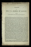 Speech of Hon. T. L. Harris, of Illinois, in Reply to the Speech of Mr. Hampton, of Pennsylvania