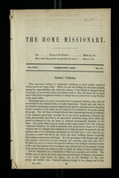 The Home Missionary, Vol. XXV. February, 1853. No. 10