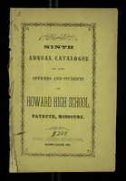 Ninth Annual Catalogue of the Officers and Students of Howard High School, Fayette, Missouri.