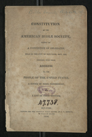 Constitution of the American Bible Society