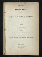 Twentieth Annual Report of the American Bible Society