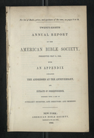 Twenty-Eighth Annual Report of the American Bible Society